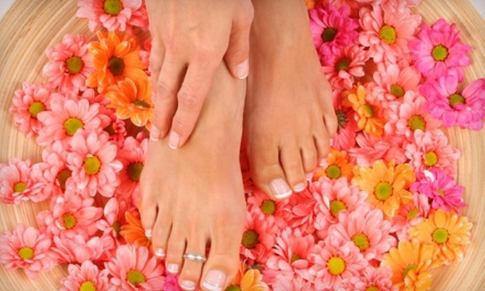 Dessange Paris - Bach: Classic Mani-Pedi, Haircut with Clay Scalp Treatment, or Spray Tan and Exfoliation at Dessange Paris (Up to 61% Off)