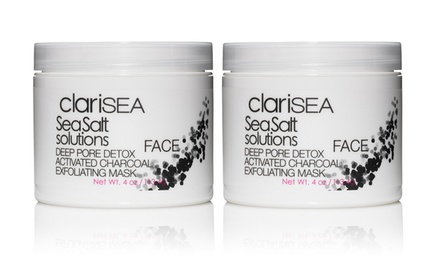 clariSEA Deep-Pore Detox Activated Charcoal Exfoliating Mask