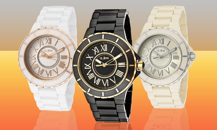 a_line Women's Marina Ceramic Watches: a_line Women's Marina Ceramic Watches (Up to 93% Off) (Multiple Styles Available). Free Shipping and Returns.