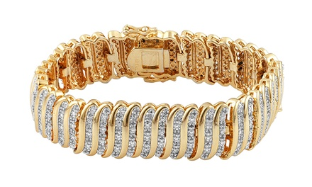 2 CTTW Diamond Bracelet in Brass
