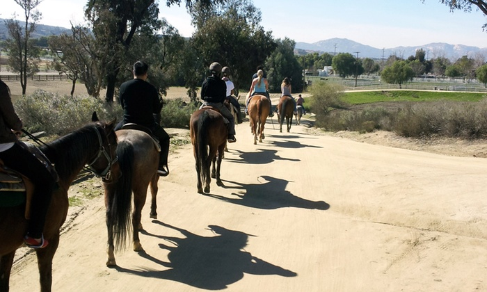 Green Acres Ranch - Temecula: 75-Minute Guided Horseback Trail Ride for One or Two from Green Acres Ranch (52% Off)