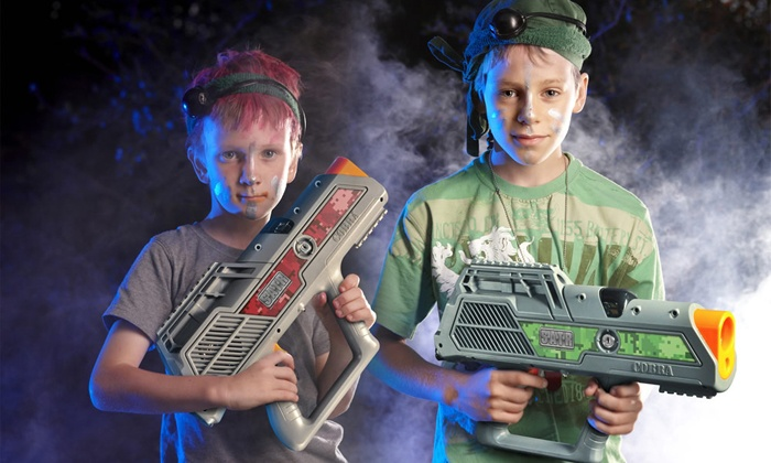 Blue Lagoon Entertainment Center - Lake Park: Laser Tag with Pizza and Drinks for 2 or 4, or Party for Up to 10 at Blue Lagoon (52% Off)