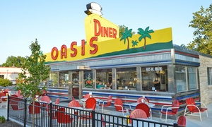 Oasis Diner: Diner Food and Drinks for Two or Four at Oasis Diner (30% Off)