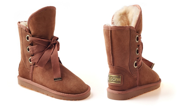 ceeb5754c96 Ozwear Bedouin Lace-Up UGG Boots | Groupon Goods