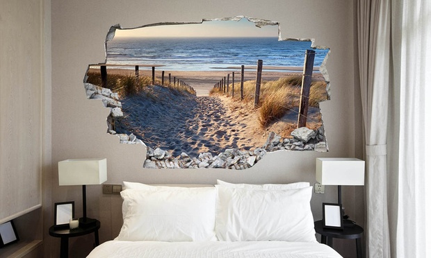 amazing 3d wall decals groupon goods. Black Bedroom Furniture Sets. Home Design Ideas