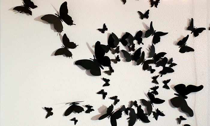 Farfalle adesive 3d da parete groupon - Tavole adesive 3d prezzi ...