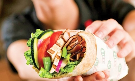 $9.99 for Three Groupons, Each Good for $5.50 Worth of Healthy Pita Sandwiches at The Pita Pit ($16.50 Value)