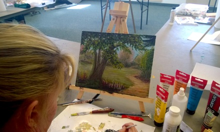 Painting Party for One or Two from Pat Serie Art Classes (Up to 57% Off)