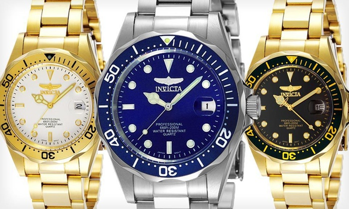 Invicta Men's Pro Diver Watches: Invicta Men's Pro Diver Watch (Up to 77% Off). Four Options Available. Free Shipping and Free Returns.