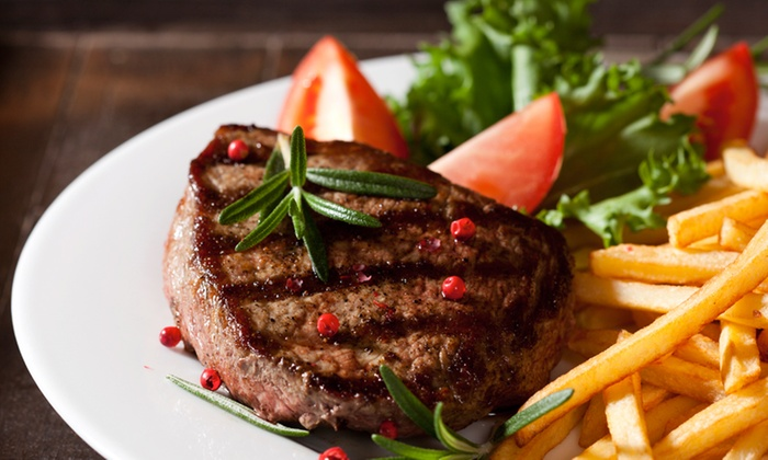 The Oak Inn - Guilsfield: 24oz Steak Meal for Two at The Oak Inn (28% Off)
