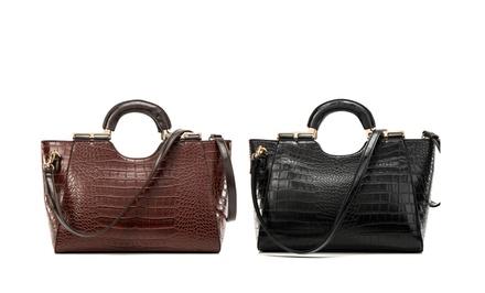 Dasein Fairmont Croc Shoulder Bag