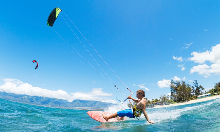 Miami Kiteboarding Lessons - South Pointe: 60-Minute Introductory Kiteboarding Class for One or Two at Miami Kiteboarding Lessons (Up to 62% Off)
