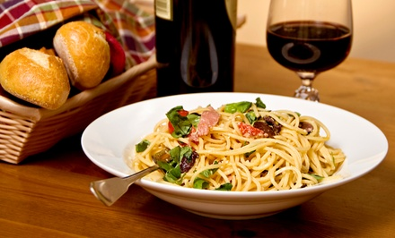 $25 for  $40 Worth of Italian Food and Drinks, Valid Sunday Through Thursday at Caffe Riace