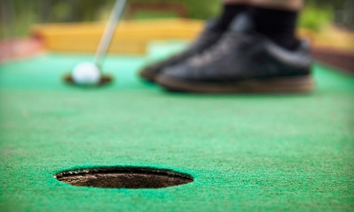 Bama Mini Golf - Tuscaloosa: 18 Holes of Mini Golf and Concessions Credit for Two, Four, or Six at Bama Mini Golf (Up to 53% Off)