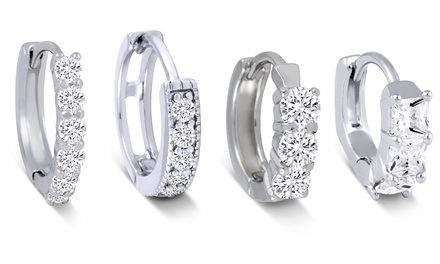 Cubic Zirconia Huggie Earrings