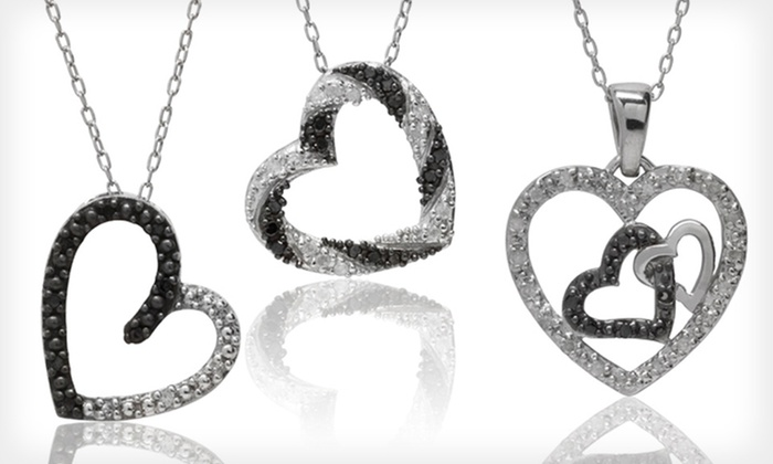 Black and White Diamond Pendant: $44.99 for a Black and White Diamond Pendant (Up to $249.99 List Price). 3 Options. Free Shipping and Returns.