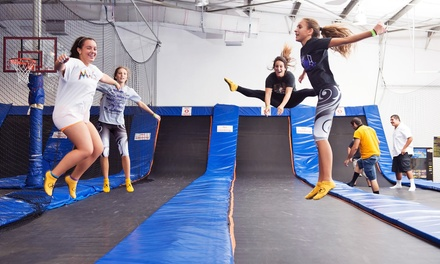 Two Hours of Open Bouncing Time and Bungee Trampoline Sessions for One or Two at Trampoline High (Up to 36% Off)