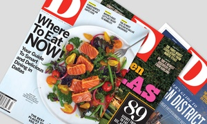 "_D_ Magazine: One or Two Year Subscription to ""D"" Magazine (Up to 46% Off)"