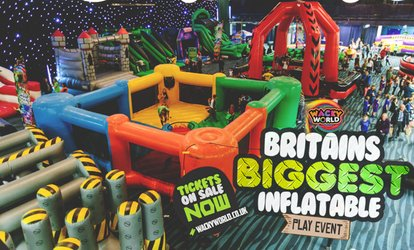 image for Entry to Inflatable Activity Arena on 1 - 26 November with Wacky World, Four Locations (Up to 24% Off)