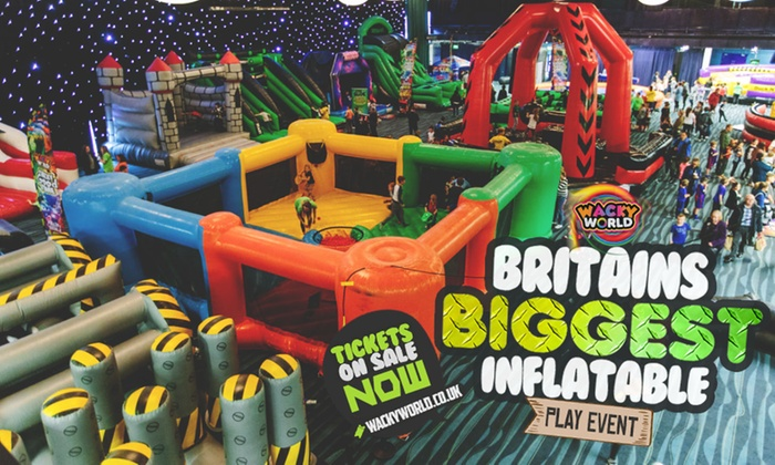 Wacky World - Multiple Locations: Entry to Inflatable Activity Arena on 12 - 24 February at Wacky World, Six Locations (Up to 33% Off)