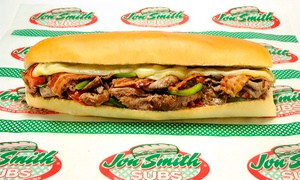 Jon Smith Subs: $12 for Three Groupons, Each Good for $7 Worth of Food at Jon Smith Subs ($21 Value)