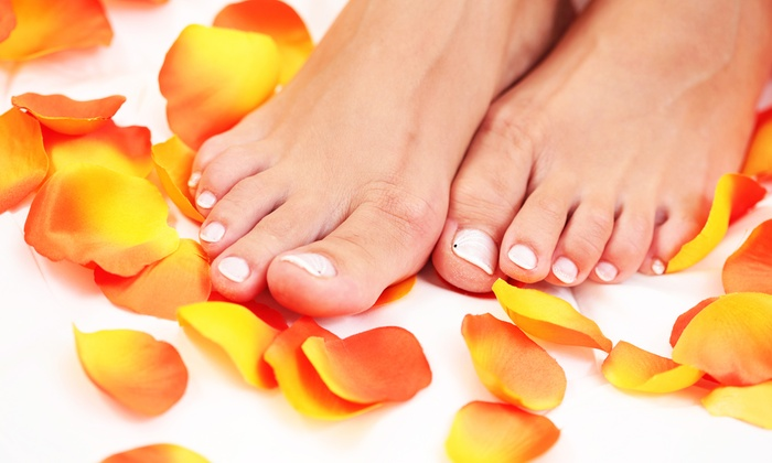 The Dead Sea Skin Care & Day Spa - Liberty Wells: Express Pedicure with Heel Treatment or Shellac Manicure at The Dead Sea Skin Care & Day Spa (Up to 55% Off)