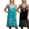 Women's Embroidered Floral Border Dress