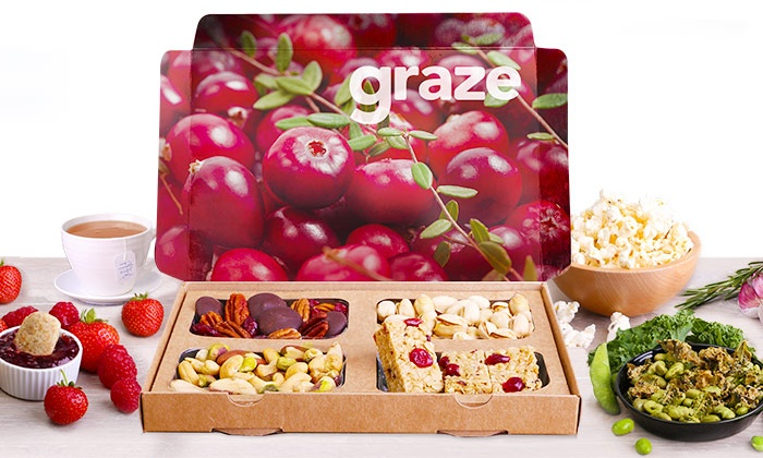 Graze: $14 for Four Snack-Box Deliveries from graze.com ($27.96 Value)