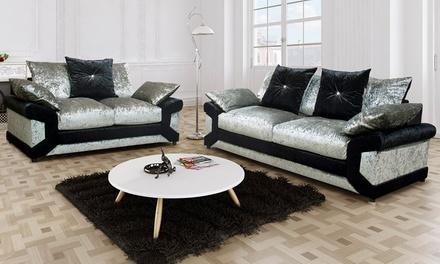lucia scatter back sofa set