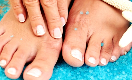 One or Two Spa Mani-Pedi Packages at Neat and Natty Nails and Barber Cuts (Up to53% Off)