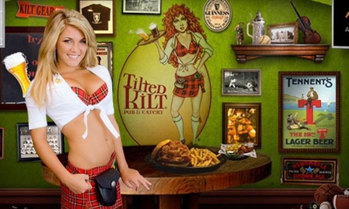Tilted Kilt Pub & Eatery - Oshkosh: Pub Food and Drinks for Two or Four at Tilted Kilt Pub & Eatery (Up to 52% Off)