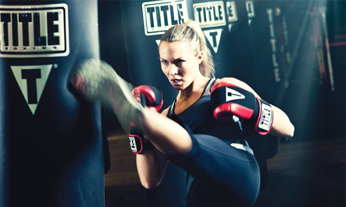 TITLE Boxing Club - Multiple Locations: Two Weeks of Unlimited Boxing and Kickboxing Classes or 10 Classes at Title Boxing Club (Up to 69% Off)