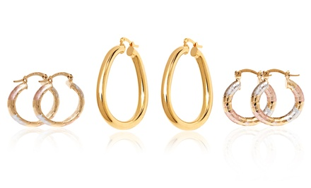 18K Gold-Plated Hoop Earrings