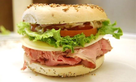 Two or Five $10 vouchers for Bagels and Deli Sandwiches at Bagel Bin & Deli (40% Off)