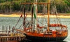 """The Compass Rose - Grandpappy Point Marina: Tour of Replica 1860s Tall Ship for Two or Four from """"Compass Rose"""" (Up to 50% Off)"""