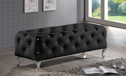Faux Crystal Tufted Benches