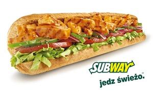 Subway -  GDYNIA-Dworzec Główny (FRANCHISE): Zestaw Subway z dowolną kanapką 30 cm i sokiem lub ciastkiem za 12,49 zł i więcej w Restauracji SUBWAY® (do -46%)