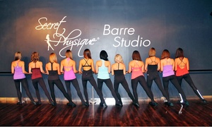 Secret Physique Barre Studio: $45 for Five Barre Fitness Classes at Secret Physique Studio ($80 Value)