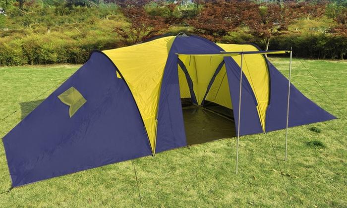 bleu Ku Voyage de camping tente avec sac de transport pour 4 personnes