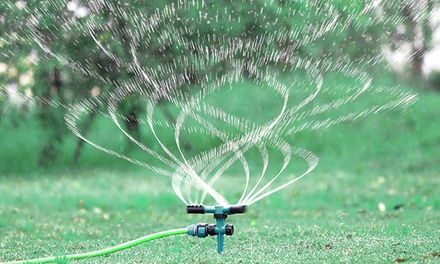 360° Automatic Rotating Adjustable Lawn Sprinkler: One ($12.95), Three ($19) or Six ($29)