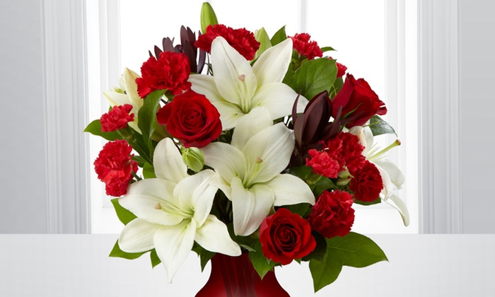 valentine's day bouquet and vase - ftd | groupon, Ideas