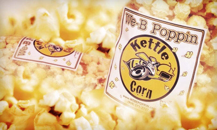 We-B-Poppin Kettle Corn: $16 for Three Large Bags of Kettle Corn from We-B-Poppin Kettle Corn ($40.50 Value)