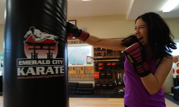 Emerald City Karate - Greenwood: Four Weeks of Unlimited Boxing or Kickboxing Classes at Emerald City Karate (56% Off)