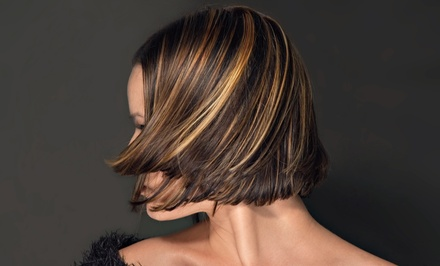 Haircut and Conditioning with Color or Partial or Full Highlights at Aeries Salon (Up to 55% Off)