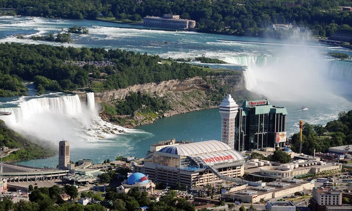 Sheraton On The Falls - Niagara Falls, ON: One-Night Stay with Winery Tours, Casino Credit, and Shuttle Passes at Sheraton On The Falls in Niagara Falls, ON