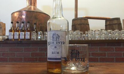 image for Spirit Tasting And Tour for Two or Four with Souvenir Low Ball Glasses at Blue Dyer Distilling (Up to 54% Off)