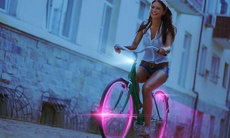 1 o 2 luci LED per bicicletta disponibili in vari colori