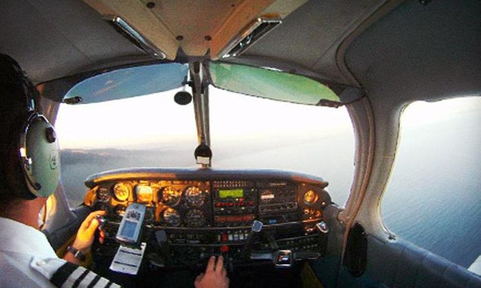 ALG Aviation - Northridge: $199 for a 60-Minute Scenic Flight Over Los Angeles for Two with Champagne from ALG Aviation in Van Nuys ($499 Value)