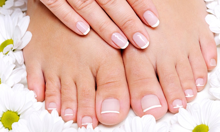 Lavis Manicures - Lavis Manicure's: Mani-Pedi with Hot-Stone Massage for One or Two at Lavis Manicures (Up to 58% Off)