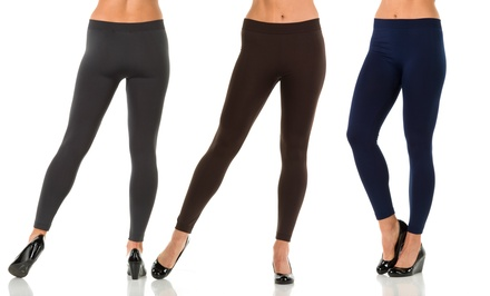 2-Pack of Sociology Fleece-Lined Leggings | Groupon Exclusive